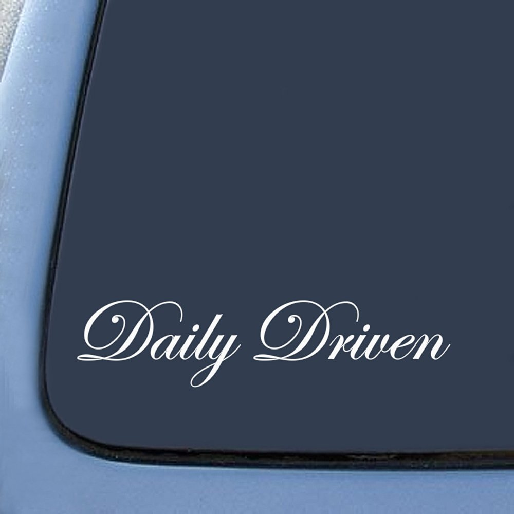 Bargainmax Daily Driven Sticker Decal Notebook Car Laptop