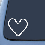 Bargain Max Fishing Hook Heart Love Sticker Decal Notebook Car Laptop 6