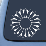 BargainMax Flower Sunflower White Sticker Decal Notebook Car Laptop 5.5