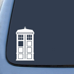 Bargain Max Doctor Who Tardis Car Window Vinyl Decal Sticker 5