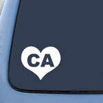 BargainMax California CA Heart State Sticker Decal Notebook Car Laptop 5.5