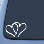 BargainMax Hearts Sticker Decal Notebook Car Laptop 3