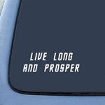 BargainMax Live Long Prosper - Star Trek Spock Vulcan Sticker Decal Notebook Car Laptop 8