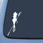 BargainMax Sailor Moon White Sticker Decal Sailor Saturn Sticker Decal Notebook Car Laptop 5.5
