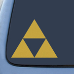 BargainMax Triforce Logo Sticker Decal Notebook Car Laptop 5.5