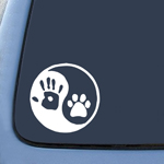 BargainMax Yin Yang Human Hand Dog Paw Sticker Decal Notebook Car Laptop 6