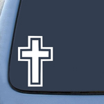 BargainMax Christian Cross Sticker Decal Notebook Car Laptop 6