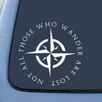 BargainMax LOTR Not All Those Who Wander Are Lost Sticker Decal Notebook Car Laptop 5.5