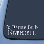 BargainMax LOTR I'd Rather Be In Rivendell Sticker Decal Notebook Car Laptop 8