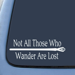 BargainMax LOTR Not All Those Who Wander Are Lost Sticker Decal Notebook Car Laptop 8