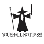 BargainMax You Shall Not Pass! - Gandalf LOTR Sticker Decal Notebook Car Laptop 6