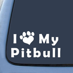 BargainMax I Love My Pitbull Dog Sticker Decal Notebook Car Laptop 7
