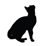 BargainMax Cat Kitten Silhouette Sticker Decal Notebook Car Laptop 5.5