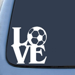 BargainMax Love Soccer Sticker Decal Notebook Car Laptop 5.5