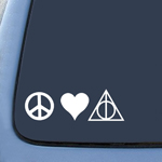 BargainMax Peace Love Deathly Hallows Sticker Decal Notebook Car Laptop 8