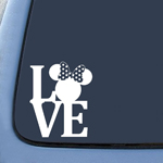 BargainMax Minnie Mouse Love Sticker Decal Notebook Car Laptop 5.5