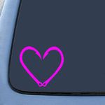 BargainMax Fish Hook Love Heart Sticker Decal Notebook Car Laptop 5.5