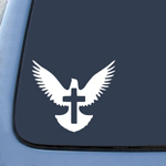 BargainMax Peace Dove Christian Jesus CrossSticker Decal Notebook Car Laptop 6
