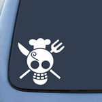 BargainMax One Piece Sanji Flag Sticker Decal Notebook Car Laptop 6