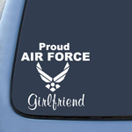 BargainMax Air Force Girlfriend Sticker Decal Notebook Car Laptop 6