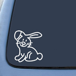 BargainMax My Family Car Stick Figure Pet Animal Rabbit Bunny Sticker Decal Notebook Car Laptop 6