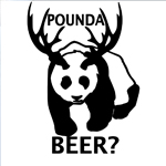 BargainMax Panda Bear Pounda Beer? Sticker Decal Notebook Car Laptop 6
