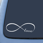 BargainMax Infinity Love Sticker Decal Notebook Car Laptop 6