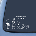 BargainMax STICK FIGURE FAMILY Position Open Sticker Decal Notebook Car Laptop 6