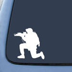 BargainMax US Soldier Silhouette Army Shooter Guns Sticker Decal Notebook Car Laptop 6