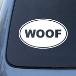 WOOF - Dog - Vinyl Car Decal Sticker #1570 | Vinyl Color: White
