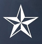 NAUTICAL STAR - Car, Truck, Notebook, Vinyl Decal Sticker #1112 | Vinyl Color: White