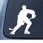 HOCKEY - Skating Sport - Car, Truck, Notebook, Vinyl Decal Sticker #1210 | Vinyl Color: White