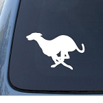 GREYHOUND - Car, Truck, Notebook, Vinyl Decal Sticker #1269 | Vinyl Color: White