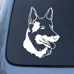 GERMAN SHEPHERD HEAD - Dog - Vinyl Decal Sticker #1516 | Vinyl Color: White