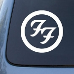 GraphixFX FOO FIGHTERS - Vinyl Decal Sticker #A1448 | Vinyl Color White