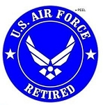 Retired US Air Force - Airforce Wings USAF - Window Bumper Locker Sticker