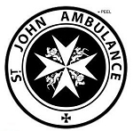 St John Ambulance - Circle - Black - Window Bumper Locker Sticker
