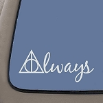 NI654 Always Harry Potter Decal | 5.5-Inches Wide | Premium Quality White Vinyl Decal
