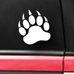 spdecals Grizzly Bear Paw Print 6