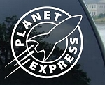 Crawford Graphix PLANET EXPRESS - Futurama - Vinyl Decal Sticker 5.5