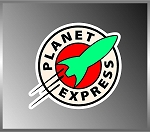 Futurama Planet Express Logo Vinyl Decal Bumper Sticker Frenzy 4
