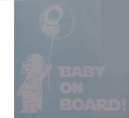 Darth Vader Baby On Board Car Window Vinyl Decal Sticker