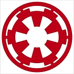 Crawford Graphix Star Wars Decal Galactic Empire Truck Window Sticker (4