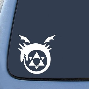 "BargainMax Full Metal Alchemist Anime Homunculus Sticker Decal Notebook Car Laptop 5.5"" (White)"