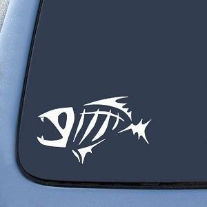 "BargainMax G.Loomis Fish Bones Fear No Sticker Decal Notebook Car Laptop 6"" (White)"