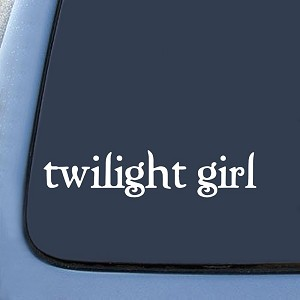 "BargainMax Twlight Girl Sticker Decal Notebook Car Laptop 8"" (White)"