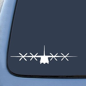 BargainMax C130 C-130 Military Airplane Sticker Decal Notebook Car Laptop 8' (White)