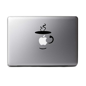 Bargain Max Decals - Coffee Cup - Sticker Decal Notebook Car Laptop (Black)